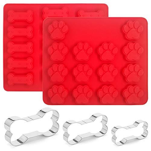 SourceTon Ausstechformen für Hundepfoten, Knochen, Silikon, in 3 Größen