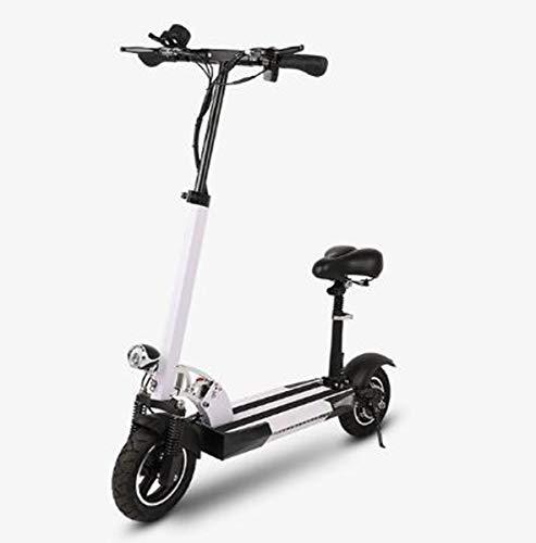Scooter eléctrico plegable para adultos, patinete eléctrico con sirena desmontable, pantalla LCD...