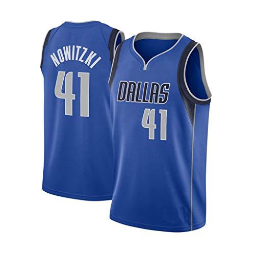 Basketball Trikot für Dirk Nowitzki # 41 Fans Anzug Kinder Erwachsene schwarz lila Sportbekleidung T-Shirt Weste-1-M