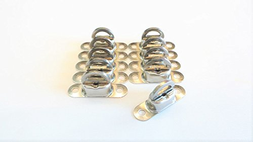 10 x Twist verrouiller Nirosta pour oeillet ovale 22,5x13,5 mm inoxydable, Avion pivotant