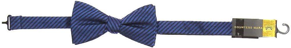 Countess Mara Men's Dark Purple Striped Pre-Tied Bow Tie