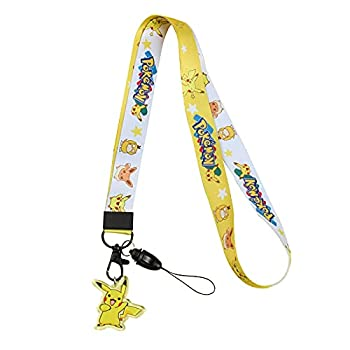 HNZTWOL Neck Lanyard for Kids Women Men Keychain Holder Cartoon Lanyard Strap for Phones ID Badge Holder Pokemon Lanyard  E