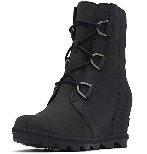 Sorel Women's Joan of Arctic Wedge II Boots, Black, 10.5 Medium US
