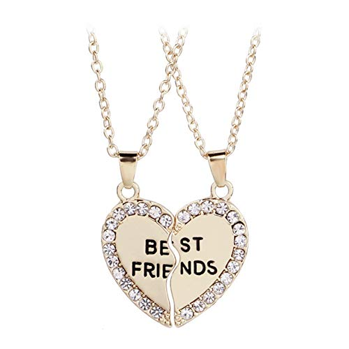 Airlove BFF Friendship Necklace for 2 - Best Friend Necklaces BFF Gifts for...