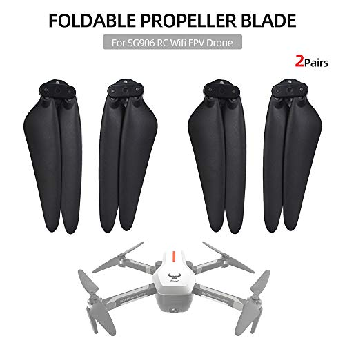 Goolsky SG906 Propellerblatt Faltbare Propellerrequisiten für SG906 CSJ-X7 RC WiFi FPV Drohne 2 Paar
