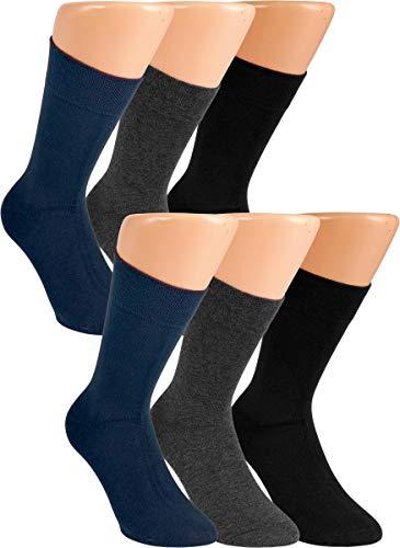 RS. Harmony  Socken und Strümpfe für Herren Extra Qualitätsgarn, 43-46, 6 Paar - Anthrazit