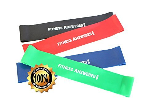 Fitness Answered Training Resistance Bands | Loop Bands for Exercise | Loops Resistance Bands Set (10'x2'_4color)