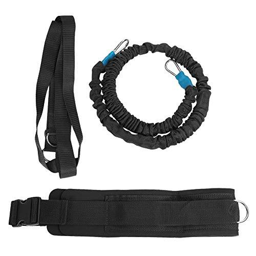 Akozon Cintura di allenamento a resistenza dinamica Fasce per esercizi da corsa a resistenza multifunzionale Corda elastica di velocità di accelerazione per la corsa sportiva(6*10*1m)