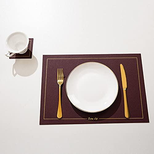 Manteles Individuales Lavables Salvamantele Individuales Antimanchas Antideslizantes Resistente Al Calor Impermeable,para La Mesa De Comedor De Cocina-Color Caramelo