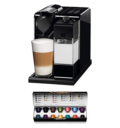 Nespresso De'Longhi Lattisima Touch Animation EN560.B - Cafetera monodosis de cápsulas Nespresso con depósito de leche, 6 recetas seleccionables,color negro, Incluye pack de bienvenida con 14 cápsu
