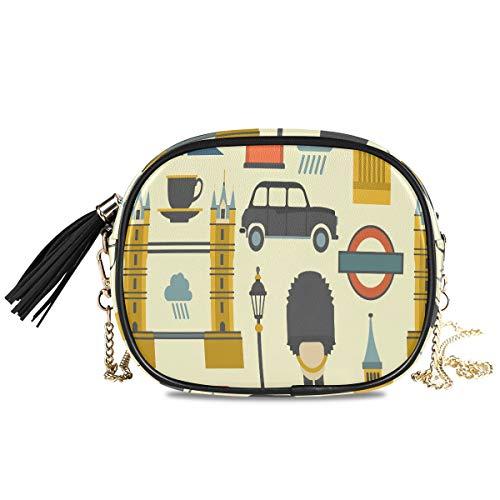 Big Ben Red Bus Cab und British Flag Frauen Abend Crossbody Geldbörsen Formelle Party Damen Tasche...