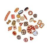 10pcs Dollhouse Miniatures alimentari Accessori Dollhouse miniatura Alimentazione Mini Giochi giocattolo della frutta torta di,alimento biscotto ciambelle miniatura per Accessori delle bambole