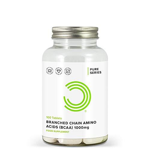 Bulk Verzweigtkettige Aminosäuren, BCAA Tabletten, 1000 mg, 100 Tabletten, Verpackung Kann Variieren