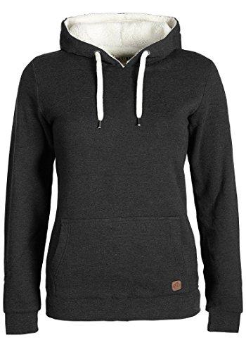 DESIRES Derby Pile Damen Winter Pullover Kapuzenpullover Hoodie Sweatshirt mit Kapuze und Teddy-Fell, Größe:S, Farbe:Dark Grey Melange (8288)