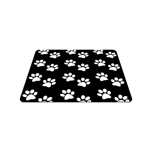 Nicokee Dog Paw Gaming Mousepad Dog Paw Prints Black White Mouse Pad Mouse Mat for Computer Desk Laptop Office 9.5 X 7.9 Inch Non-Slip Rubber Photo #3