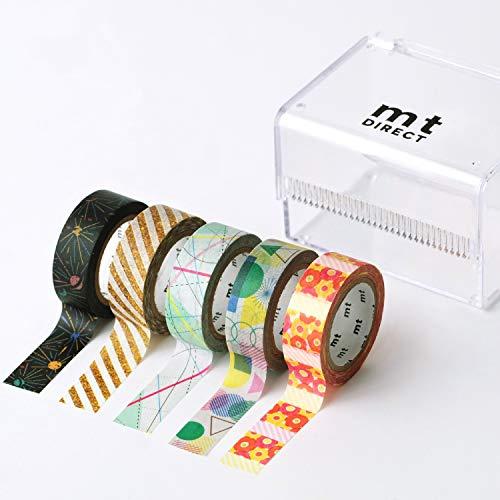 mt DIRECT マスキングテープ [exセット] マステ 柄 収納 幅広 シール かわいい (15mm×7m)