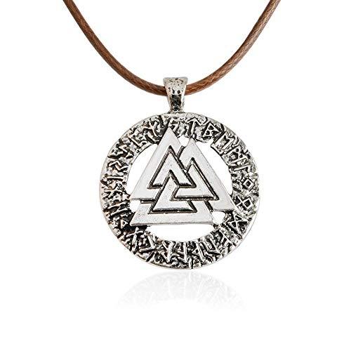 Alushisland Drama Mitológico Joyería De Metal Colgante De Collar Engrasado Cruce Eléctrico