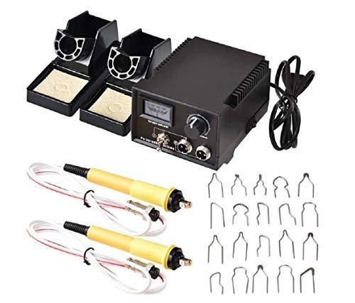 HUKOER Kit Pirograbador de Madera,Kit Pirograbdores Electrico 60W Temperatura Regulable,Soldador Pirografo Profesional para Madera, Cuero, Grabado (Negro 1)