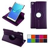 COOVY® 2.0 Cover für Huawei MediaPad M5 8.4 Rotation 360° Smart Hülle Tasche Etui Hülle Schutz Ständer Auto Sleep/Wake up   lila