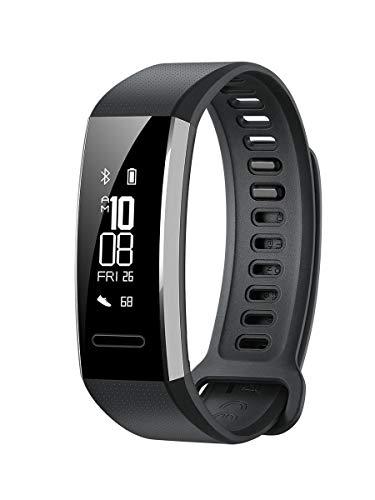 Huawei Band 2 Pro Fitness-Tracker (GPS, Herzfrequenzmessung, wasserdicht bis 5 ATM), Schwarz
