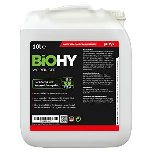 BiOHY WC limpiador (Bote de 10 litros) | Gel limpiador viscoso, concentrado | ideal contra las escamas de orina (WC-Reiniger)