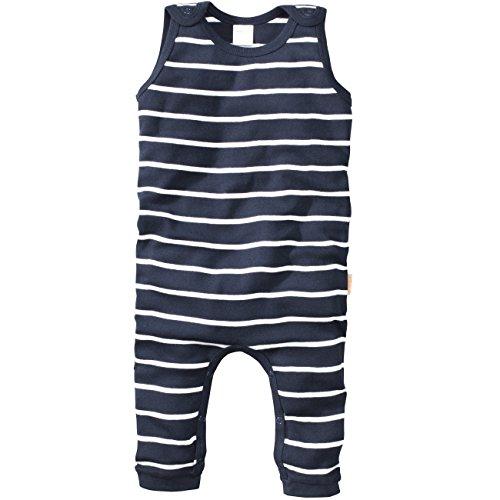 wellyou | Baby-Strampler | Kinder-Strampler | marine-blau weiß gestreift | Strampelanzug geringelt | für Jungen und Mädchen | Feinripp aus 100% Baumwolle 92 - 98