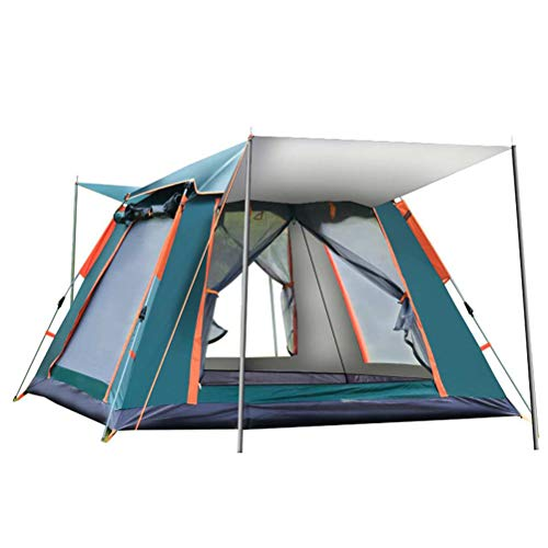 Instant Pop Up Camping Tents for 3-4 Person Family, Quick Set up Dome Tent, Windprooof Waterproof Camping Tents Rainproof Hiking Tent Sun Shelters Backpacking Tents for Outdoor Activities (Green)