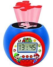 Lexibook Reloj despertador con proyector Super Mario & Luigi - Alarma con función de repetición, luz nocturna con temporizador, pantalla LCD, batería, RL977NI