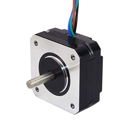 STEPPERONLINE Short Body Nema 17 Bipolar Stepper Motor 1A 18.4oz.in/13Ncm DIY CNC Extruder
