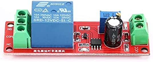 ARCELI 2 PCS NE555 12V CC R/églable 0-10 Seconde Retard Retard Relais Module de Commutation Shield pour Arduino Raspberry Pi