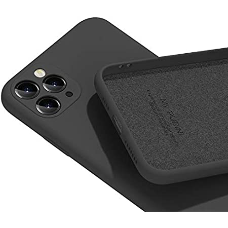 PANDA BABY iPhone 11/11 Pro/11 Pro Maxシリコンケース レンズの全面保護 (11 Pro, ブラック)