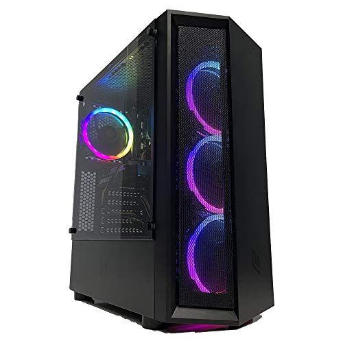 GOLOOK • PC Desktop Gaming RGB • Intel i5 • 8GB • SSD 240GB • WiFi • Scheda Video Dedicata GT710 2GB • Windows 10 Pro X64 • Computer Fisso Assemblato • 4 Ventole