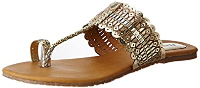 BATA Women Metallic Tr Slippers