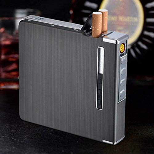 New Automatic Cigarette Case Dispenser with Built in Torch Lighter for 20 Cigarettes