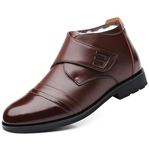 Winter Snow Ankle Shoes for Men Genuine Leather