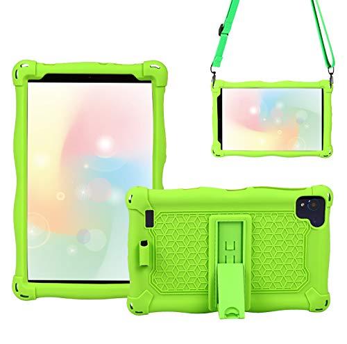 QYiD Funda para Vankyo Matrixpad S8, Anti-Caída Ligero EVA Cubierta Protectora Carcasa para niños con Soporte para VANKYO MatrixPad S8 8 Inch/Dragon Touch Notepad Y80, Verde