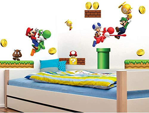 Le grand sticker mural pour fan de Super Mario et Luigi