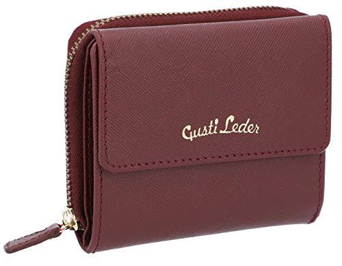 Gusti - Portafoglio in pelle Brigitta, porta carte di credito, portafoglio in pelle, colore: Rosso