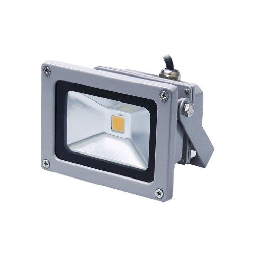Auralum® 10W Super Hell 230V IP65 Wasserdicht Grau Warmweiß LED Außenstrahler Fluter Flutlicht