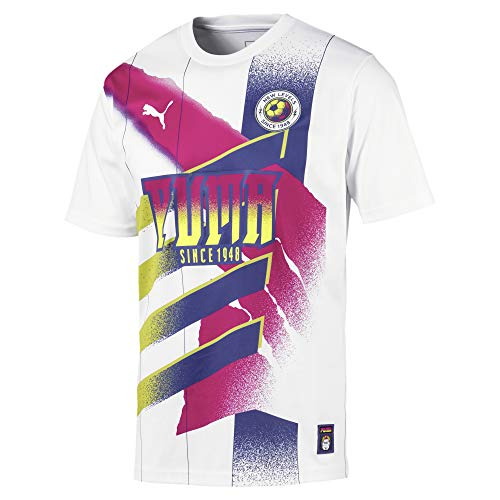 PUMA Retro Fußballtrikot Herren weiß/pink, XL (56/58 EU)