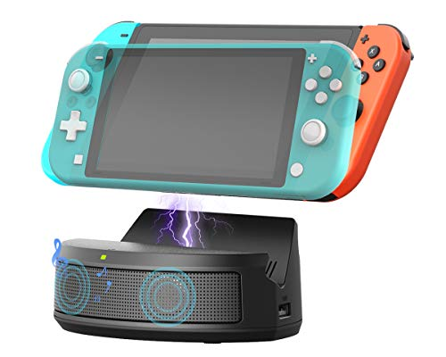 Switchスピーカーおよび充電器ドック、Nintendo SwitchおよびスイッチLiteステレオオーディオアンプドッキングステーション、ゲームアクセサリ用の2x USB拡張ポート付きUSB C充電ドックスタンド