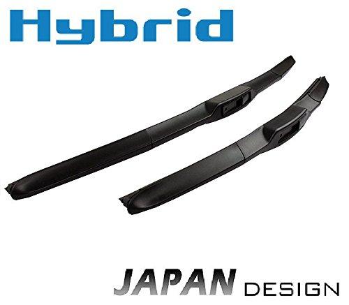 600mm 450mm HYBRID FLEX AERO JAPAN TECHNOLOGY 2x Front Scheibenwischer Premium Qualität Wischerblätter Set Scheibenwischerblätter Satz für Frontscheibe mit Hakenbefestigung. INION®