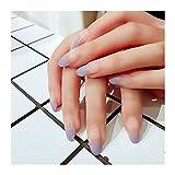 VIAIA 24 unids/Set Medio Dedo Largo Nail Tips Art Tips Pretty Nude Purple Gradient Cubierta Completa Nails Fake Fake Women Manicure Acrylic Falso Clavos