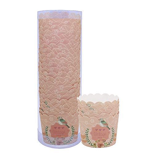 Beiersi 24 pcs Caissettes Cupcake Papier Muffin,Moule en Papier pour Muffins,Moules de Cuisson en Papier