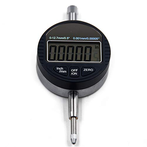 Oudtinx Electronic Digital Dial Indicator Gage Gauge Inch/Metric Conversion 0-0.5 Inch/12.7 mm 0.00005 Inch/0.001mm