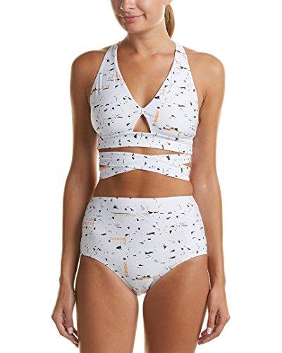 Proenza Schouler Women's Wrap High Waist Bikini Set White Small