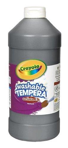 Crayola Washable Tempera Paint, Black Kids Paint, 32 Ounce Squeeze Bottle