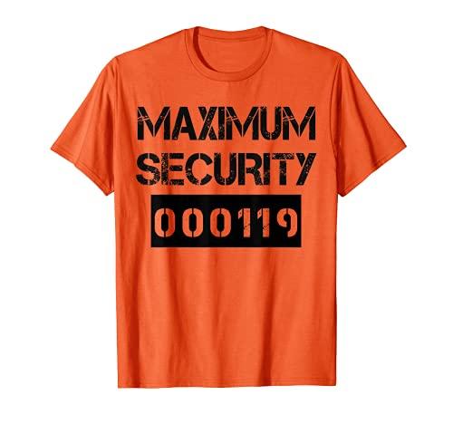 Disfraz de preso de mxima seguridad para Halloween Camiseta
