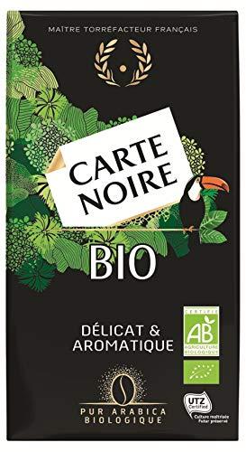 Carte Noire Bio, Café Moulu Biologique torréfié 100% Arabica, Paquet de 250 g