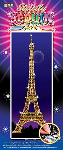 MAMMUT 8061405 - Sequin Art Strictly Paillettenbild Eiffelturm, Steckbild, Bastelset, Styropor-Rahmen, Bildvorlage, bunte Pailletten, Steckstifte, Anleitung, für Kinder ab 8 Jahre